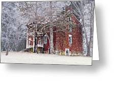 A Snowy Night Greeting Card by Kathy Jennings