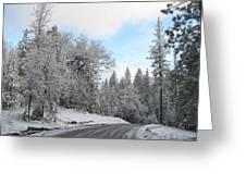 A Snowy Stroll Greeting Card by Lydia Warner Miller
