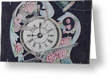 A Stitch In Time Greeting Card by Patsy Sharpe