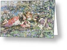 A Summer Idyll Greeting Card by Edward Atkinson Hornel