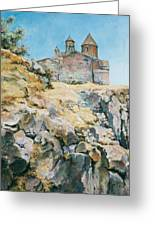 A Temple On The Rock Greeting Card by Tigran Ghulyan