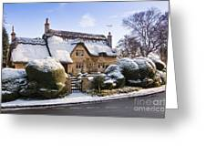 A Thatched Cottage In The Cotswolds  Greeting Card by Andrew  Michael