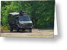 A Unimog Vehicle Of The Belgian Army Greeting Card by Luc De Jaeger