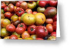 A Variety Of Fresh Tomatoes - 5d17840 Greeting Card by Wingsdomain Art and Photography