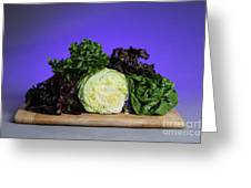 A Variety Of Lettuce Greeting Card by Photo Researchers, Inc.