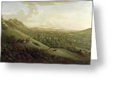A View Of Boxhill - Surrey Greeting Card by George Lambert