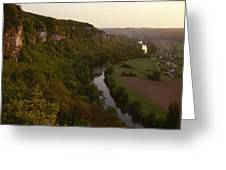 A View Of The Vezere River Valley Greeting Card by Kenneth Garrett