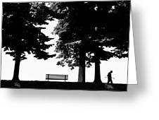 A Walk In The Park Greeting Card by Artecco Fine Art Photography