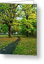 A Walk In The Park Greeting Card by Dan Mihai