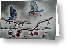 A Warm Winter Welcome Greeting Card by Carla Carson