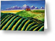 A Winery In Tuscany Greeting Card by Spencer Hudon II