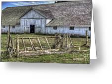 Abandoned Barn Greeting Card by Eddie Yerkish