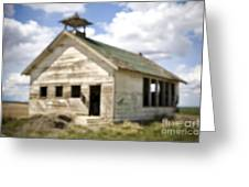 Abandoned Rural School House Greeting Card by Paul Edmondson