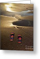 Abandoned Thongs Greeting Card by Avalon Fine Art Photography