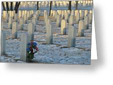 Abe Lincoln National Cemetary Greeting Card by Todd Sherlock