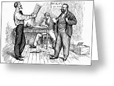 Abolitionist Newspaper Greeting Card by Granger