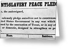 Abolitionist Peace Pledge Greeting Card by Granger