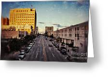 Above College Avenue Greeting Card by Shutter Happens Photography