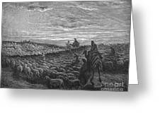 Abraham Entering Canaan Greeting Card by Granger
