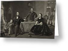Abraham Lincoln And Family Greeting Card by International  Images