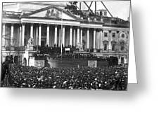 Abraham Lincolns First Inauguration - March 4 1861 Greeting Card by International  Images