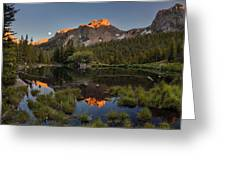 Absaroka Range Reflection Greeting Card by Leland D Howard