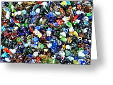 Abstract - colored glass characters Greeting Card by Paul Ward
