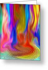 Abstract - Pooling Waterfall Greeting Card by Steve Ohlsen