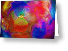 Abstract - The Egg Greeting Card by Steve Ohlsen