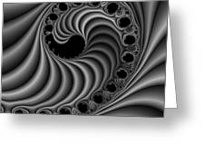 Abstract 116 Bw Greeting Card by Rolf Bertram