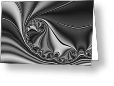 Abstract 153 Bw Greeting Card by Rolf Bertram