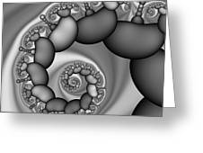 Abstract 171 Bw Greeting Card by Rolf Bertram