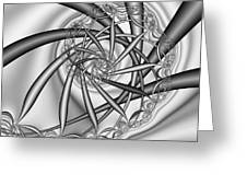 abstract 533 BW Greeting Card by Rolf Bertram