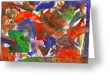 Abstract - Acrylic - Synthesis Greeting Card by Mike Savad
