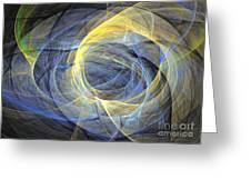 Abstract Art - Delightful Mood Of Abstracted Mind Greeting Card by Abstract art prints by Sipo