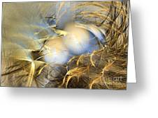 Abstract Art - Far From The Treacherous World Greeting Card by Abstract art prints by Sipo