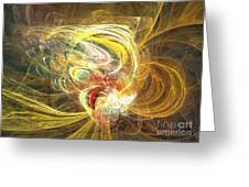 Abstract Art - In Full Bloom Greeting Card by Abstract art prints by Sipo
