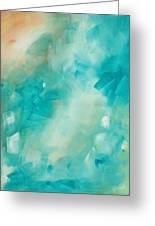 Abstract Art Colorful Bright Pastels Original Painting Spring Is Here II By Madart Greeting Card by Megan Duncanson