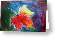 Abstract Autumn Greeting Card by Shakhenabat Kasana