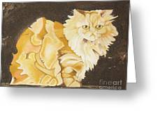 Abstract Cat Greeting Card by Joseph Palotas