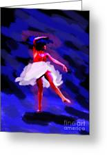 Abstract Dancer Greeting Card by Val Armstrong