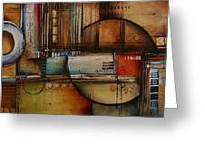 Abstract Design 77 Greeting Card by Michael Lang