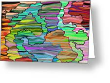 Abstract Emotions Greeting Card by Gina Lee Manley