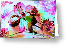 Abstract Flower Number Five Greeting Card by Doris Wood