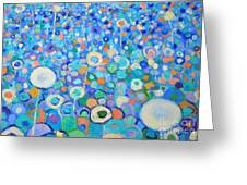 Abstract Flowers Field Greeting Card by Ana Maria Edulescu