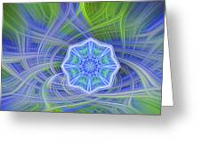 Abstract From Yexas Blue Bonnets Greeting Card by Linda Phelps