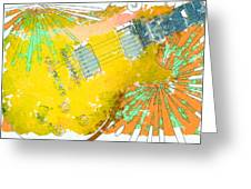 Abstract Guitar Greeting Card by David G Paul