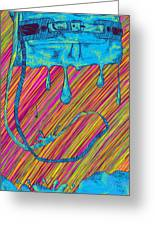 Abstract Handbag Drips Color Greeting Card by Pierre Louis