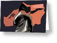 Abstract He Comes For Me Greeting Card by David Dehner