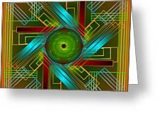 Abstract Reality Greeting Card by Mario Carini